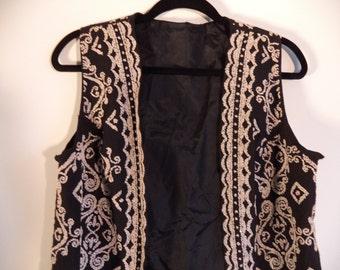 Vintage beaded bohemian tunic//Size medium