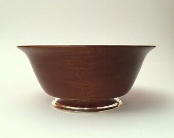 Mahogany Mid Century Modern Fruit Bowl