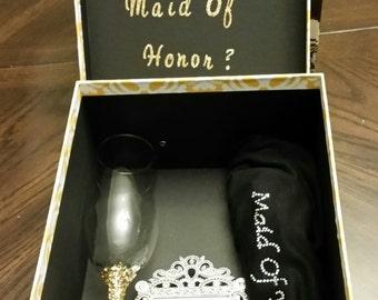 Custom Bridesmaid/Maid of Honor Box