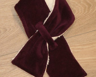 Cozy scarf made of velour and teddy