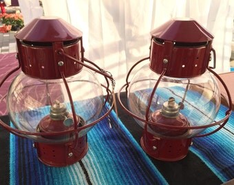 Round Red Lanterns