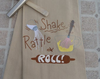 Kitchen Towel - Shake, Rattle and Roll - Baking tea towel