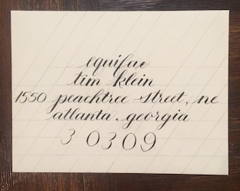 Custom Handlettered Calligraphy Envelope Addressing