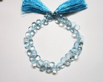 Sky Blue Topaz Faceted Hearts