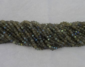 Labradorite faceted rounds