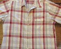 Plaid Short Sleeved Button Down Shirt (A005)