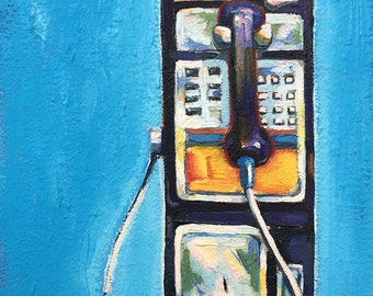 Little Pay Phone on Blue