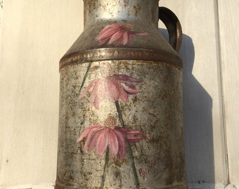 Hand painted milk pitcher