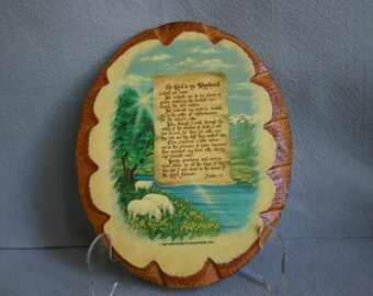 The Lord is My Shepherd Decoupage Plaque