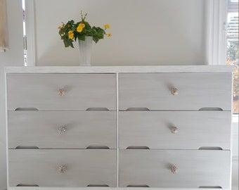 Hand painted  dresser,.mid century modern