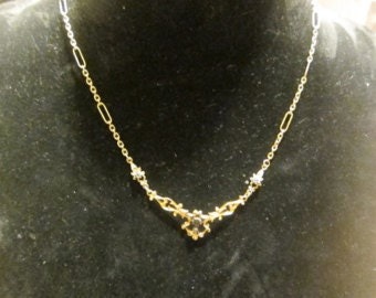 Necklace gold 18 k old diamonds and rubies, offered port