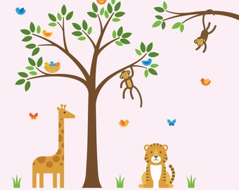 Jungle Theme Nursery, Jungle Theme, Jungle Room Nursery - X-Large