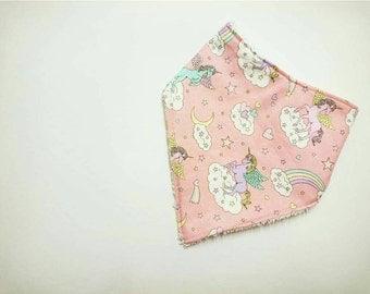 Pink Unicorn Bibdana