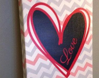 Canvas Love (frame) size 8 x 10
