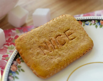 """Biscuit Polymer Clay Magnet – Coconut """"Nice"""" Biscuit – Polymer Clay Magnet – Handmade Fridge Magnet – Food Jewellery"""