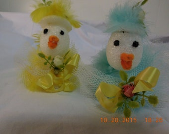 Fancy Easter Chicks in their Easter Bonnets