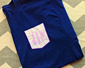Monogrammed Short Sleeve Pocket T-Shirt