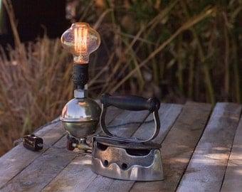 Vintage Iron With Edison Bulb Lamp