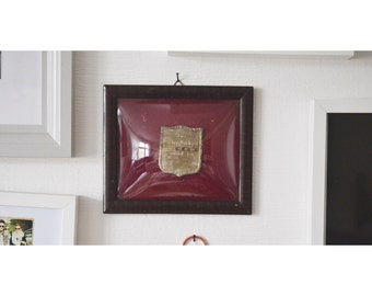 Antique German Curved Glass Frame, 1940 German Shadow Box, Antique Wedding Frame, Keepsake Frame