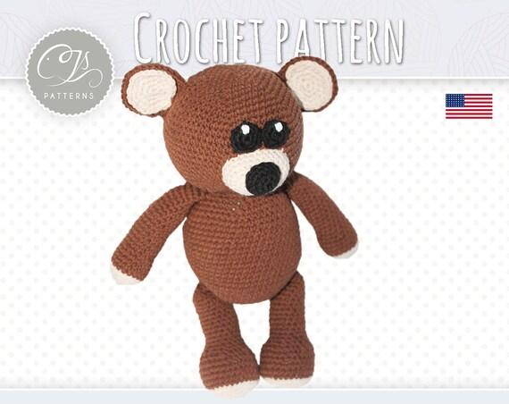 Amigurumi Stuffed Animals Patterns : Amigurumi Pattern Teddy bear Stuffed Animal Crochet Pattern