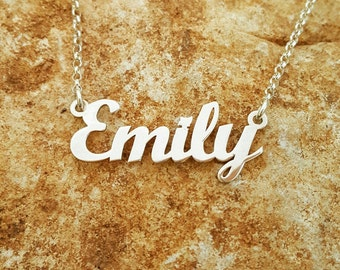 Emily style Sterling Silver Name Necklace, ORDER ANY NAME!, personalized name necklace, necklace with name, custom mad