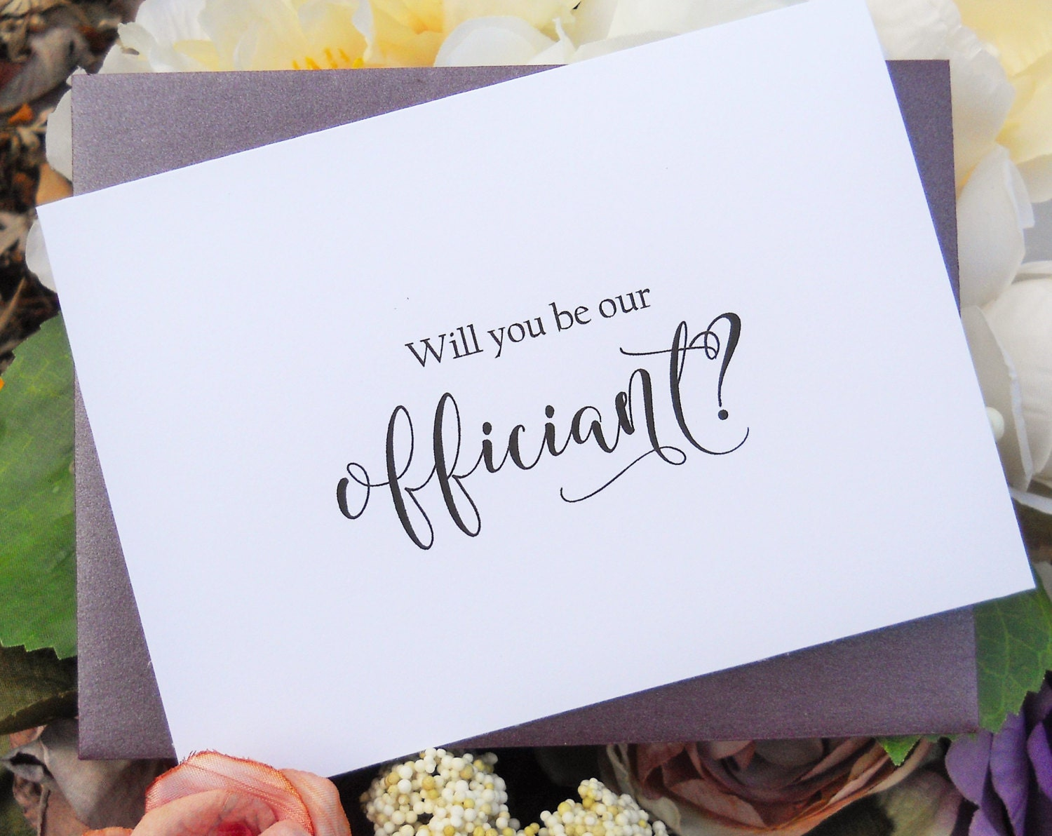 Wedding Officiant Gift Ideas: WILL You Be Our OFFICIANT CARD Officiant Card Will You Be My