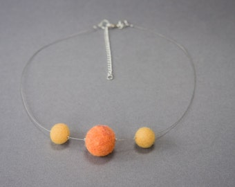 Felted Bead Necklace