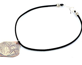 Sterling Silver and Copper Boho Statement Necklace