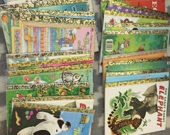 Large lot of vintage golden books