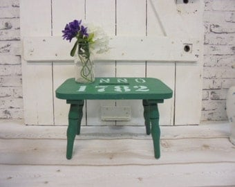 Stool footstool Shabby Chic