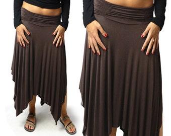 Solid Color Fairy Skirt - Brown - 2378N