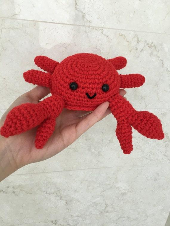 Crochet Amigurumi Crab : Crochet Crabbi Crab Amigurumi toy crab shell baby