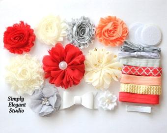 Headband Supply Kit, Baby Shower Headband Kit, Infant Headband Kit, DIY Headband, Kit #127