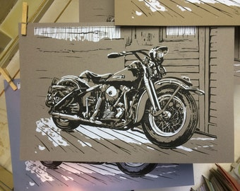 Knucklehead on the porch