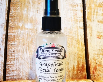 Facial Tonic Spray, Facial Toner, Facial Mist, Makeup Setting Spray, Grapefruit Toner, Citrus Facial Tonic