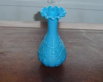 Blue opaline vase of fair end XIX