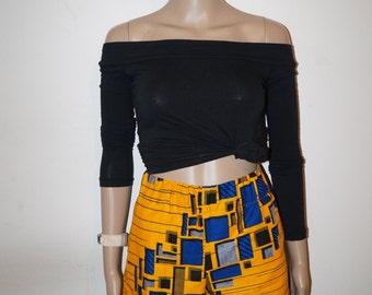 Ankara shorts, african print short, shorts
