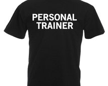 Personal Trainer Adults Black T Shirt Sizes From Small - 3XL