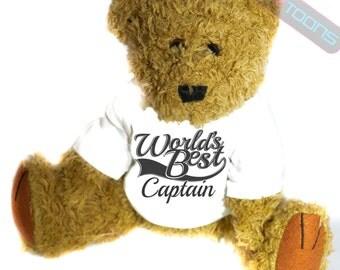 Captain Thank You Gift Teddy Bear