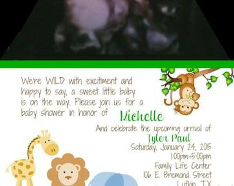 Ultrasound Baby Shower Invitation