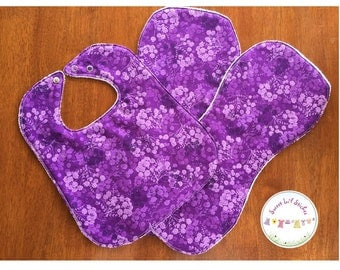 Bib and Burpie Set Purple