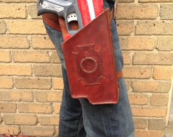 Quickdraw Nerf Magnus Leather Holster