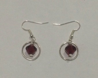 Bead circle earrings
