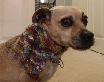 Knit Dog Scarf