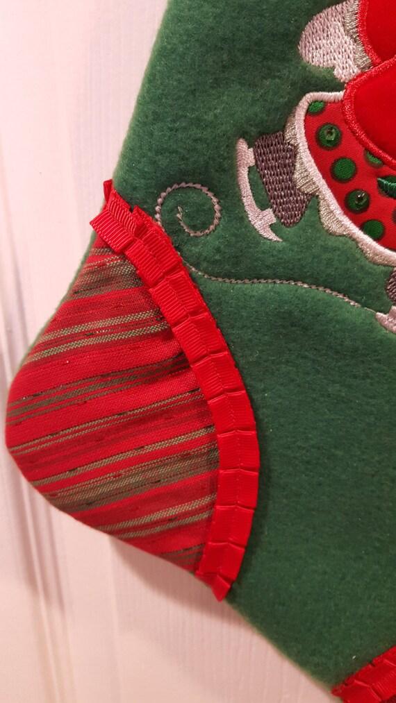 Image gallery handmade christmas stockings large for Custom made christmas stockings