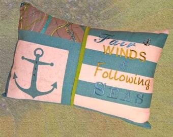 Fair Winds and Following Seas Pillow 123