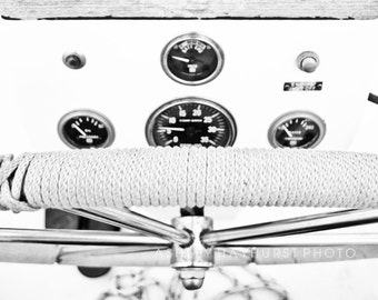At The Helm | 11x14 Black & White Print - unmatted