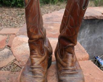Durango West Men's Cowboy Boots Brown Size 8D