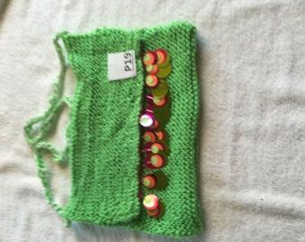 green purse P19