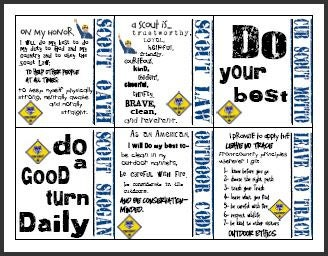 This is a graphic of Fabulous Cub Scout Oath Printable